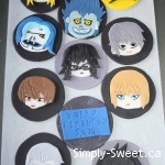 Japan Anime 'Death Note' cupcakes