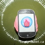 Simply Sweet iPhone cupcake with CCMTL logo