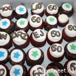 60th birthday cupcake minis