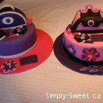 2 girly cakes