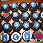 Carlton Football cupcakes