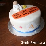 baby shower cake - beaker