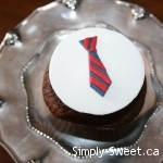 Manly tie cupcake