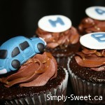 VW Cupcake toppers