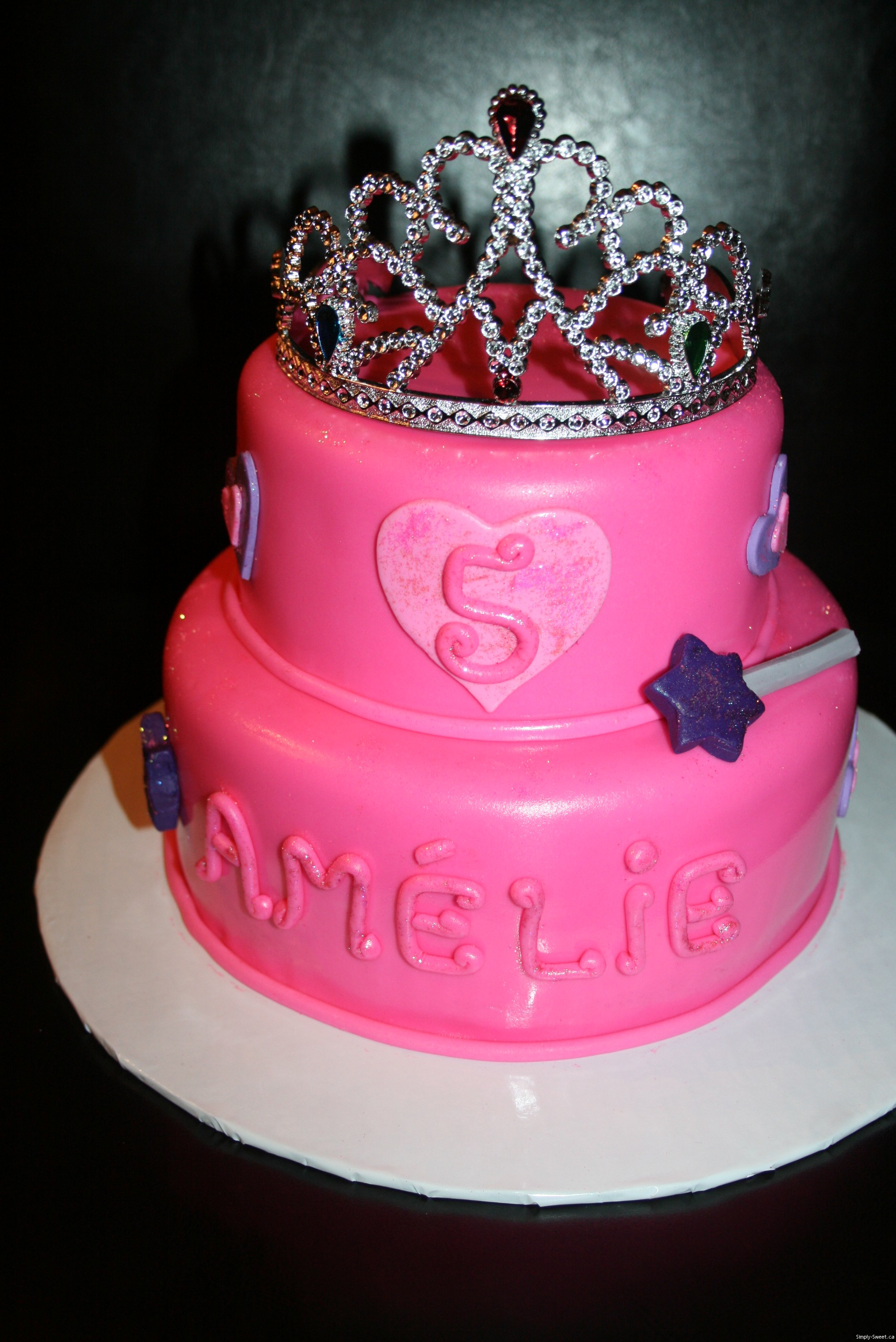 2 Tier Birthday Cake For Princess Amlie Prncess Cake Simply Sweet