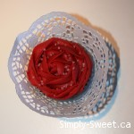 red rose with water drops and wrapper